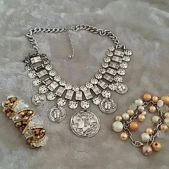 Jewelry - 3 piece, necklace & 2 bracelets